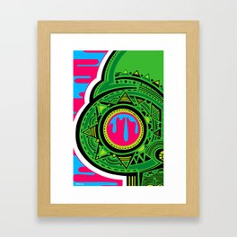 Blur Skull Banger 2 - Green Framed Art Print