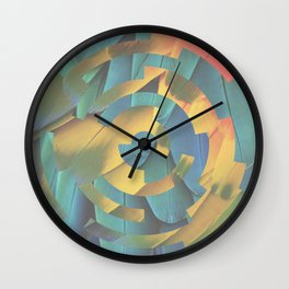 Lock1 - Feathers Wall Clock