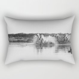 Camargue Horses V Rectangular Pillow
