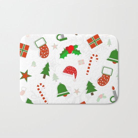 Christmas Pattern #2 Bath Mat