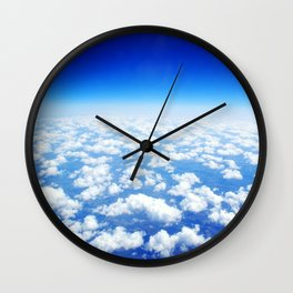 Looking Above the Clouds Wall Clock