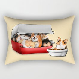 Corgi Nuggets Rectangular Pillow