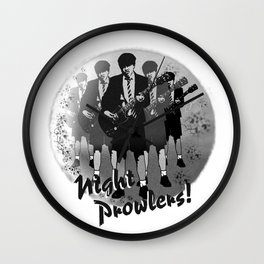 Night Prowlers Wall Clock