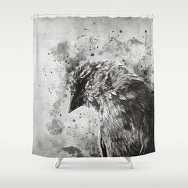 spotted madagascar fody wsbw Shower Curtain