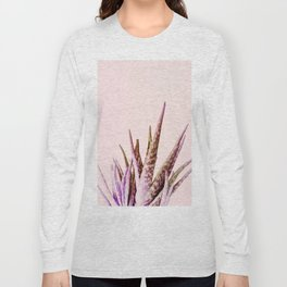 Duotone Aloe Vera on pastel Coral Long Sleeve T-shirt