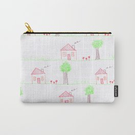 House Pattern Carry-All Pouch