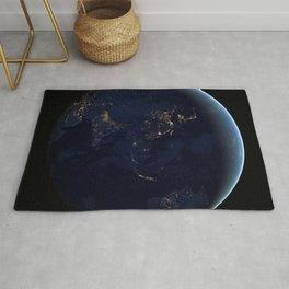 1160. Earth Black Marble - Asia and Australia Rug