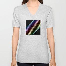 06DA01 | Rainbow | Rainbow pattern | Digital Art | Artist Amiee Unisex V-Neck