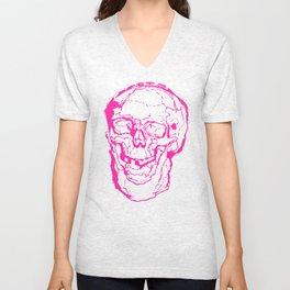 Death Laughs In Your Face Unisex V-Neck