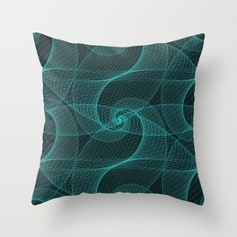 The Great Spiraling Unknown Throw Pillow