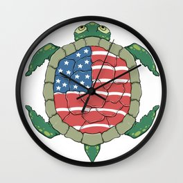 Like a turtle - Strong & Free Wall Clock