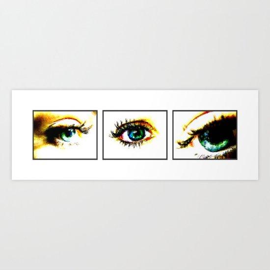 3 Eyes Art Print