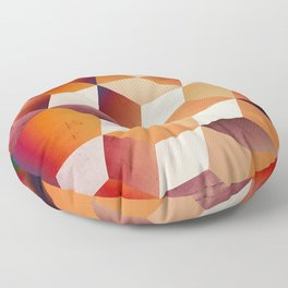 Oil Slick Cubes Floor Pillow