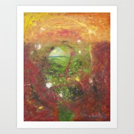 psychedelic canyon Art Print