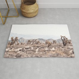 Joshua Tree // Vintage Desert Landscape Cactus Southwest Mountains Rug