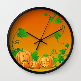 Pumpkins with personality Wall Clock