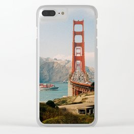 Golden Gate Bridge shot on film Clear iPhone Case