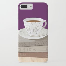 Teacup and Jane Austen Books iPhone Case
