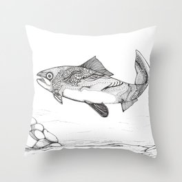 Another Day In The River Throw Pillow