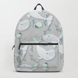 Beluga Whale Grey #homedecor Backpack