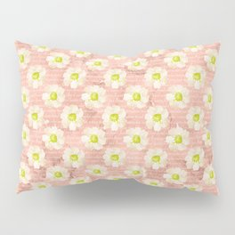 Yellow Daisies on Coral Pillow Sham