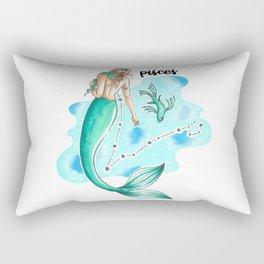 Pisces Mermaid Rectangular Pillow
