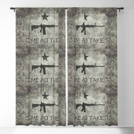 Come and Take it Flag with AR-15 Blackout Curtain