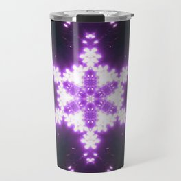 Burning Violet Snowflake Travel Mug