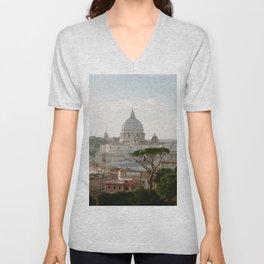 St. Peter's Basilica at Sunset Unisex V-Neck