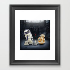 LOVE DROID & THE CAT Framed Art Print