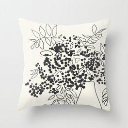 vase stillife minimal black white Throw Pillow