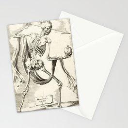 Vintage Skeleton Illustration Stationery Cards