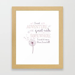Great Wide Somewhere Framed Art Print