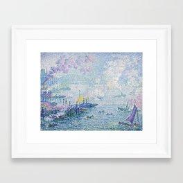 The Port of Rotterdam Framed Art Print