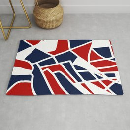 Red White & Blue Rug