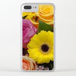 Elegant Spring Floral Bouquet Clear iPhone Case