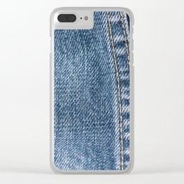 Jeans denim garment Clear iPhone Case