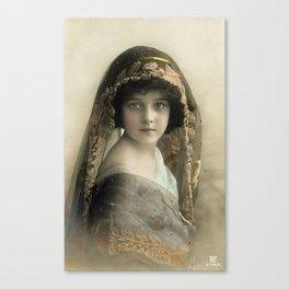 Pretty Victorian Girl Late 1800s Canvas Print