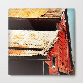 Barn Side Metal Print