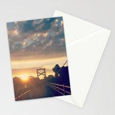 Sunrise At A Pedestrian Bridge Stationery Cards