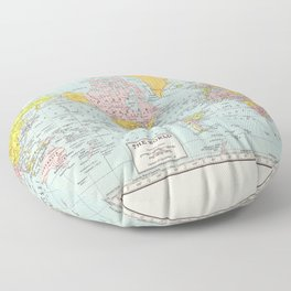 World Map Floor Pillow