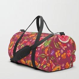 Tropical Fruit Festival in Red | Frutas Tropicales en Rojo Duffle Bag