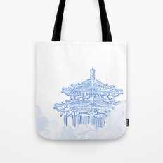 Zen temple in the cloud Tote Bag