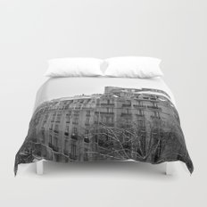 Paris Snow Duvet Cover