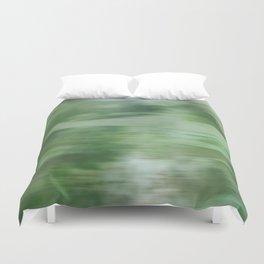 Green Fusion Illustration Duvet Cover