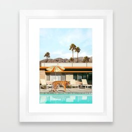 Pool Party Tiger Framed Art Print