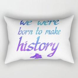 Born To Make History Rectangular Pillow