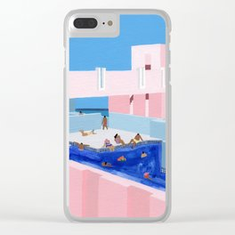 Spain Pool Clear iPhone Case
