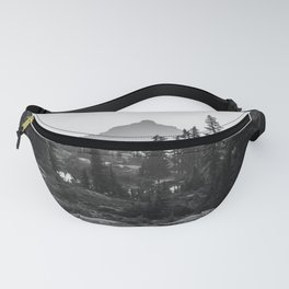 Black and White Hiking Fanny Pack
