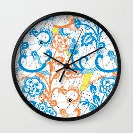 Cobwebbed Flower Lace Pattern Wall Clock